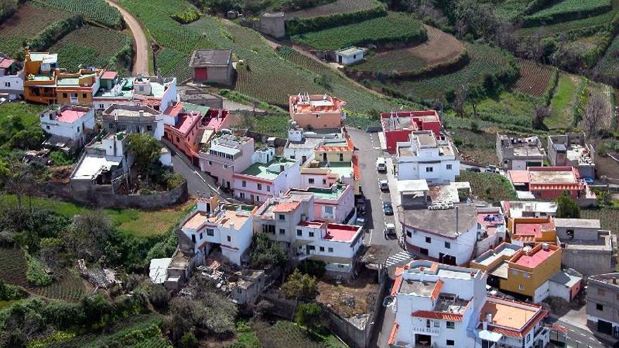 Núcleo de Las Llanadas, en las medianías altas del municipio de Los Realejos