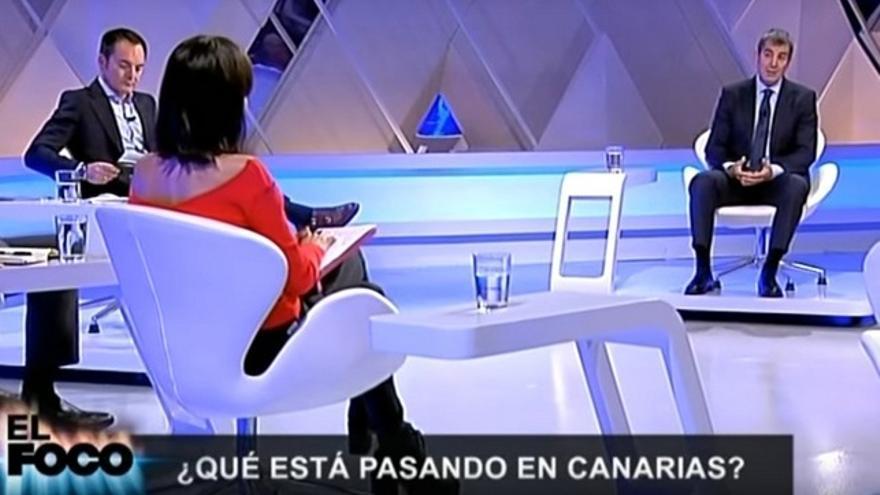 Fernando Clavijo, en el programa de 'El Foco' de la Televisión Canaria