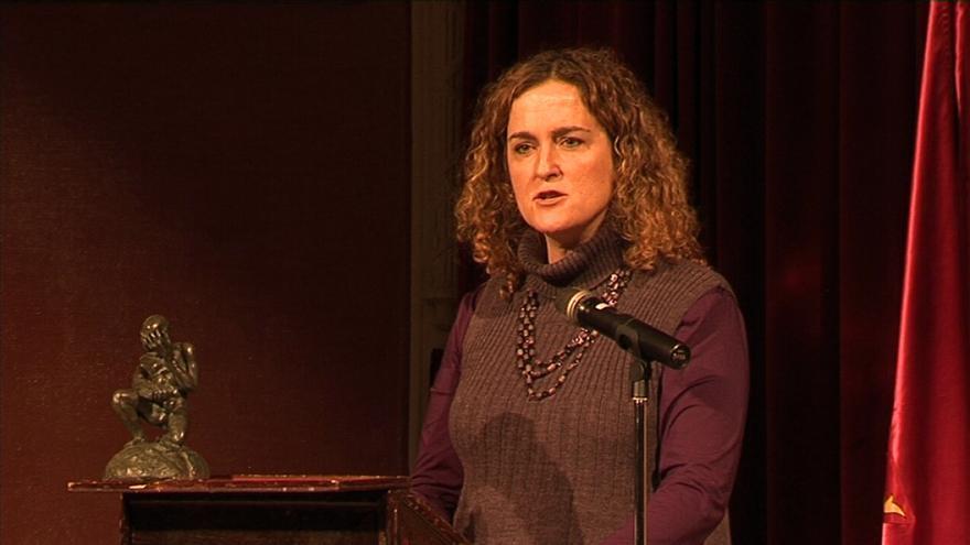 Laura Bugalho en la entrega de los premios Nicolás Salmerón de Derechos Humanos