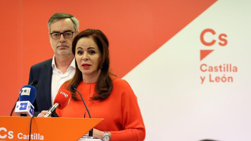 Silvia Clemente en una comparecencia en Castilla y León.