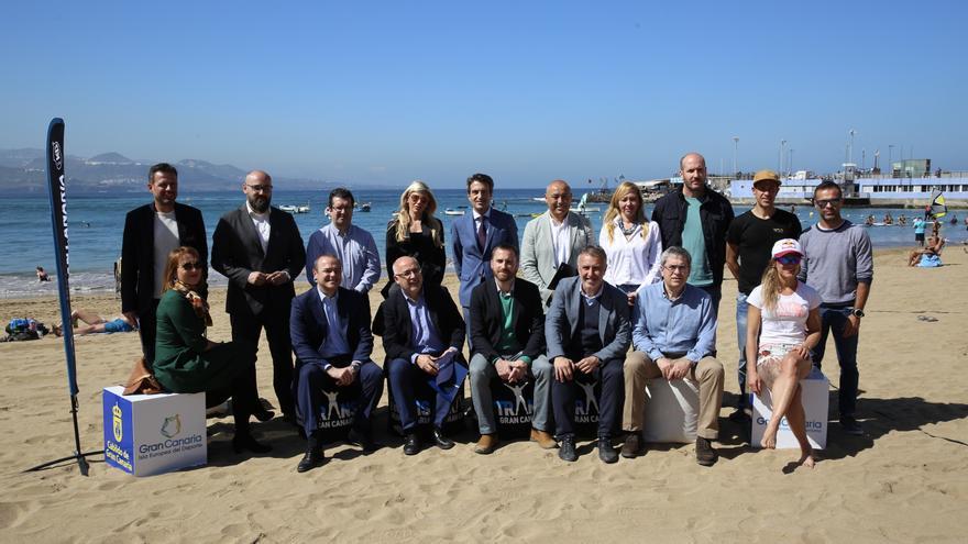 Presentación de la Transgrancanaria 2018 en la zona de la Puntilla, en la Playa de las Canteras (Las Palmas de Gran Canaria).