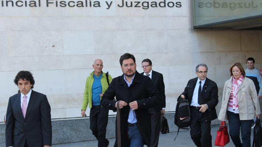 El diputado de EU Ignacio Blanco a su salida de la Ciudad de la Justicia de Valencia
