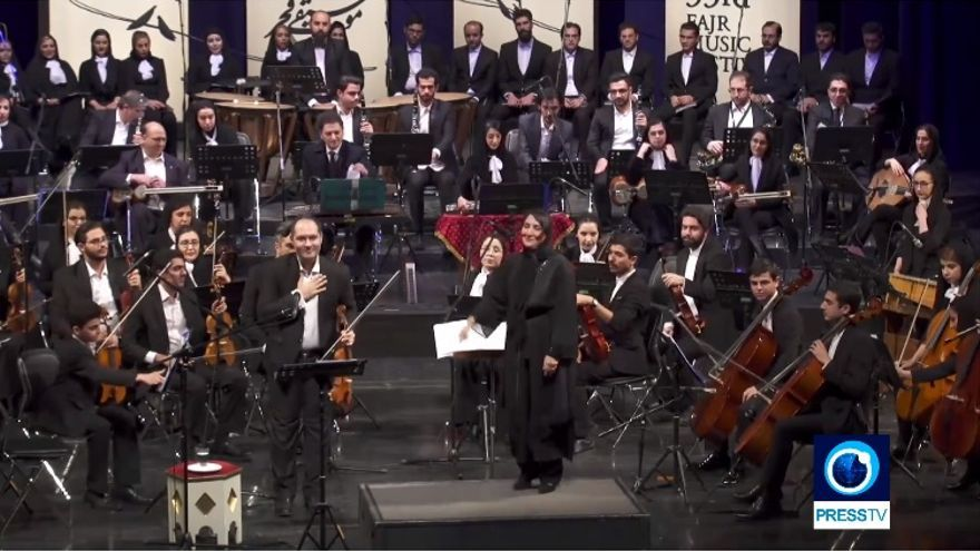 Nezhat Amiri, durante el concierto celebrado en enero en Teherán.