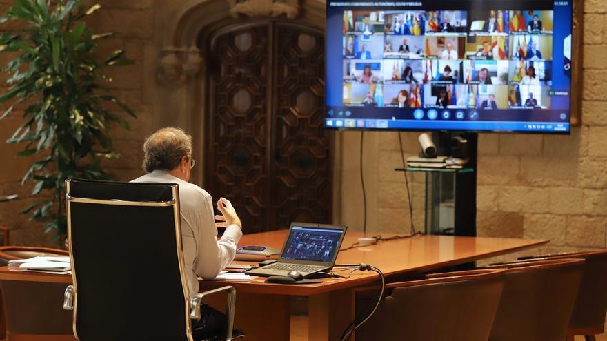 Torra plantea a Sánchez 40 medidas y la autodeterminación de Cataluña