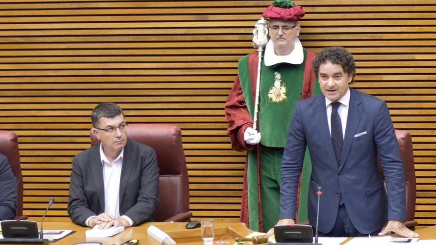 Enric Morera y Francesc Colomer, el día de la constitución de las Corts Valencianes