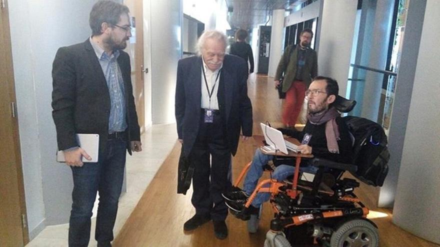 Pablo y Manolis Glezos, de Syriza