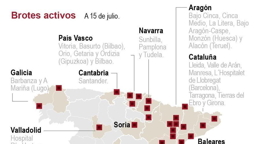 Contagios alcanzan máximo de 390 el por aumento de casos en Cataluña y Aragón