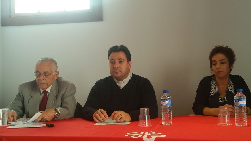 Leonardo Ruiz del Castillo (i), Jorge Concepción y Gloria López este viernes.