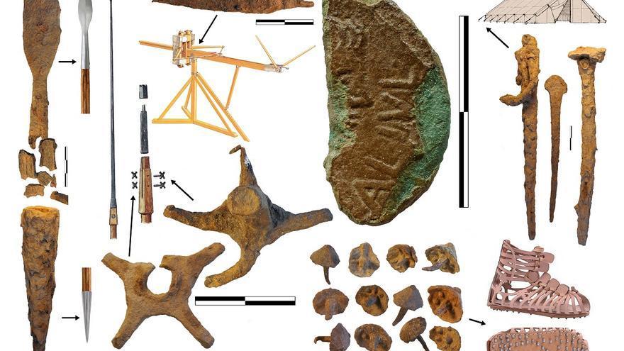 Materiales militares de los campamentos romanos de Peña Prieta   E. PERALTA