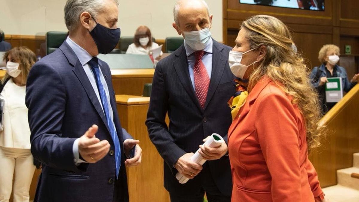 Urkullu, Erkoreka y Sagardui, este jueves, antes de la votación