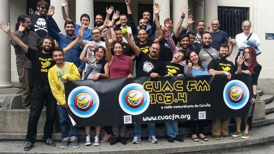 Asamblea de Cuac FM, la emisora comunitaria de A Coruña