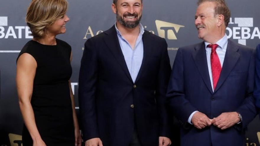 Abascal, Vox, en la Academia de Televisión