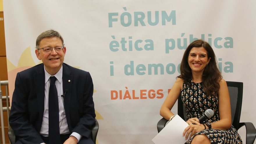 El president Ximo Puig ha sido el encargado de estrenar las 'Trobades del Consell amb la ciutadania' en Alicante