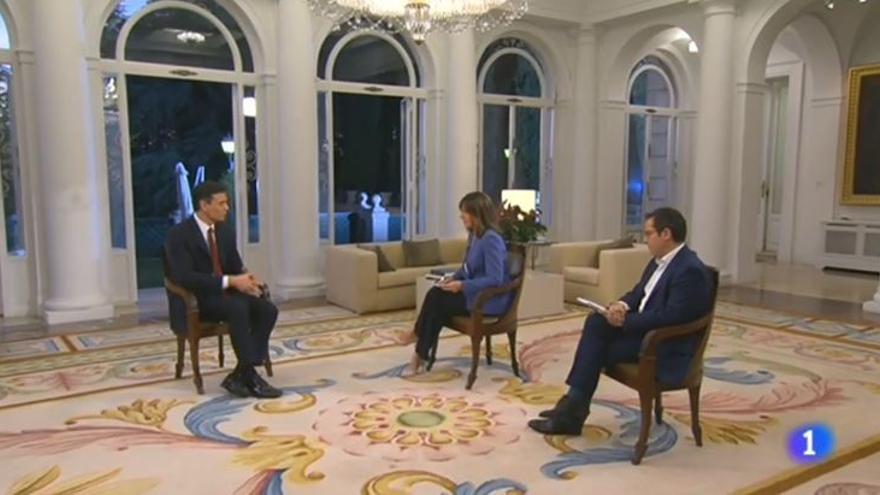 """Pedro Sánchez advierte en RTVE que """"si no hay acuerdo sobre la renovación"""" el Gobierno """"no va a mirar a otro lado"""""""