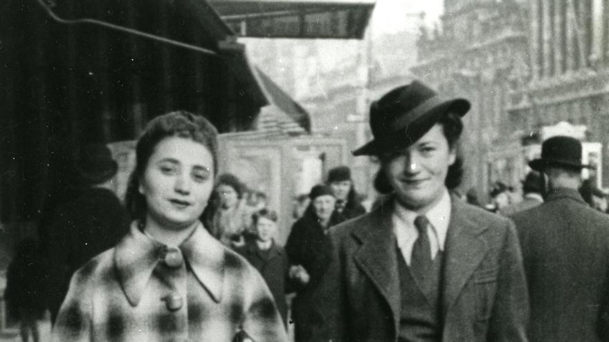 Rachela y Vera Luftig, en Amberes, en 1939. | LAS MAMÁS BELGAS