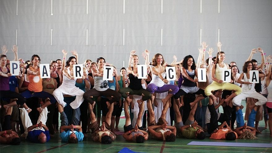 El Yoga Day es un evento que llama a la participación. © AIC