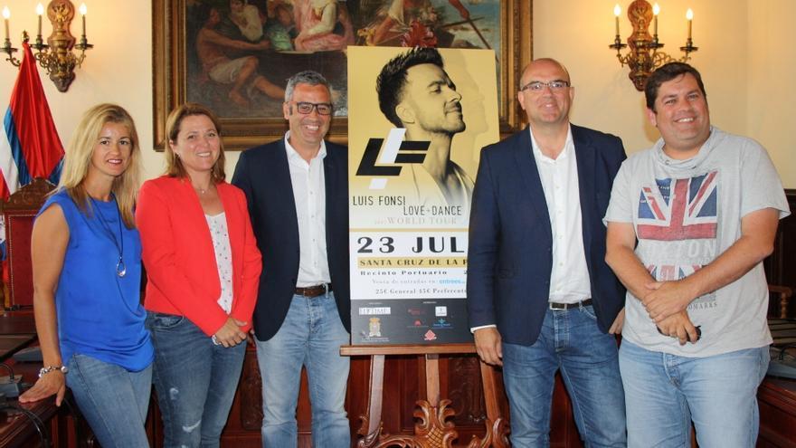 Presentación, este lunes, del concierto de Luis Fonsi.