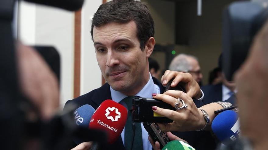 El vicesecretario de Comunicación del PP, Pablo Casado, en una imagen de archivo.