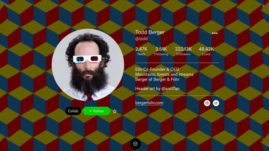 Todd Berger, uno de los fundadores de Ello