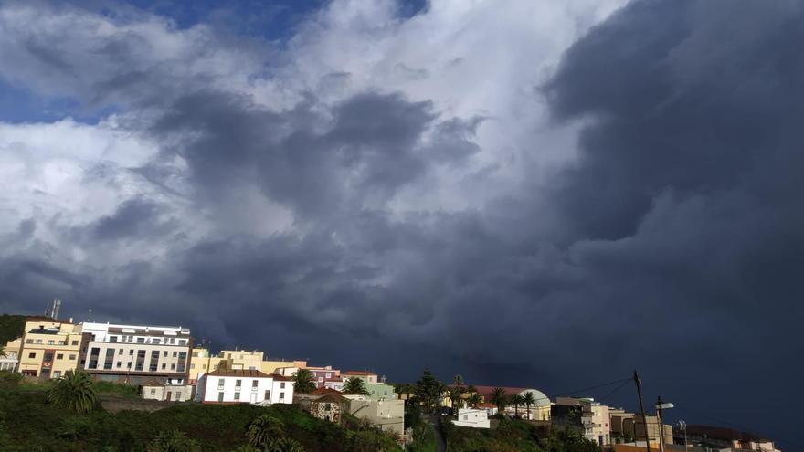 Lluvias en general débiles este sábado en La Palma