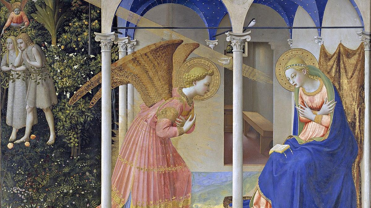 La Anunciación de Fra Angelico.