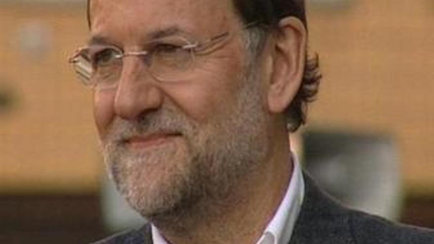 Primer plano del líder del PP, Mariano Rajoy