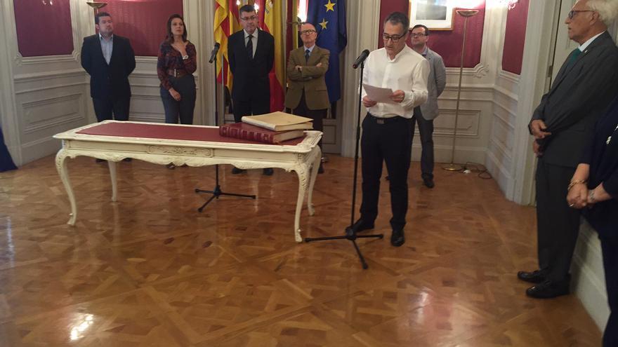 Vicent Cucarella en su discurso de toma de posesión como nuevo Síndic de Comptes.