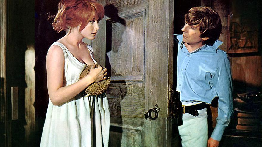 Sharon Tate con Roman Polanski en 'El baile de los vampiros' (1967)