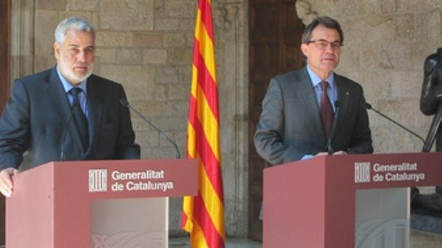 Jefe De Gobierno De Marruecos (A. Benkiran) Y El President Artur Mas