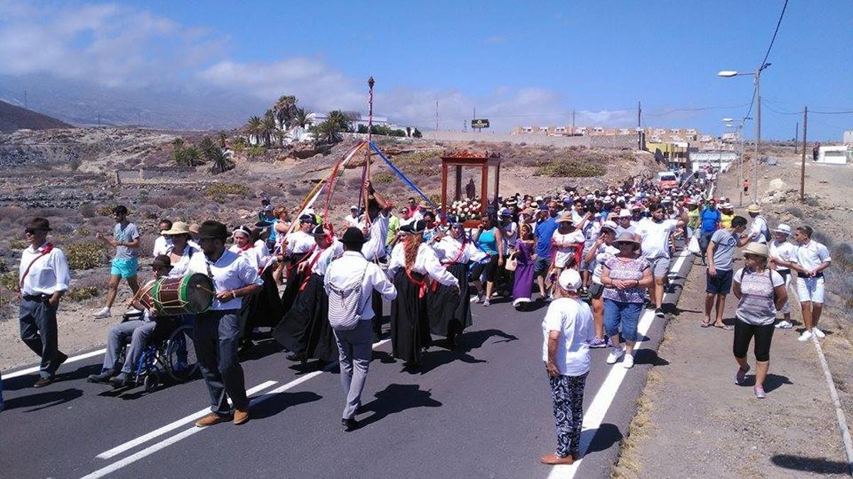 Bajada de la Virgen en Arico
