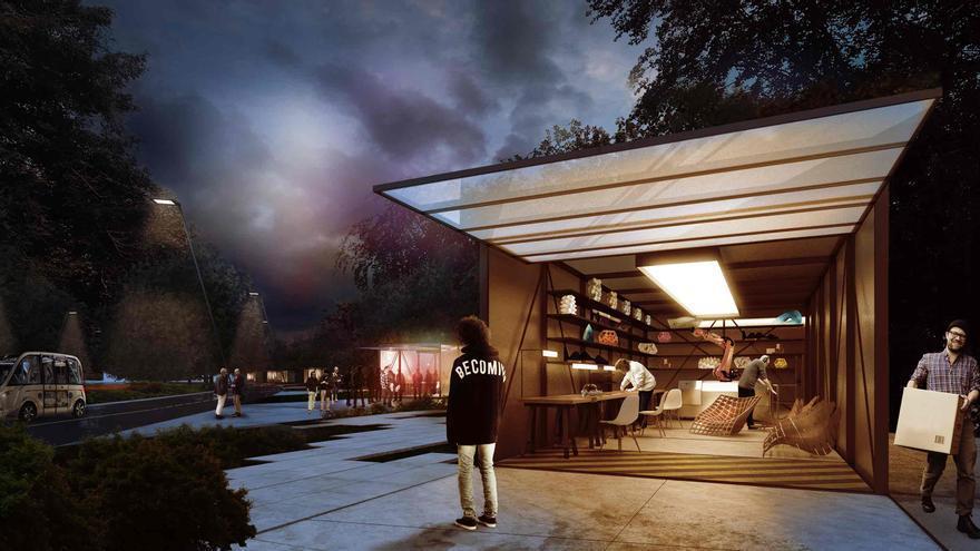 Recreación de uno de los 'fab labs' de la comuna diseñada por Carlo Ratti Asociati