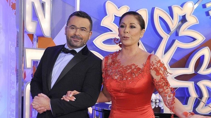 Jorge Javier Vázquez e Isabel Pantoja en las Campanadas 2011