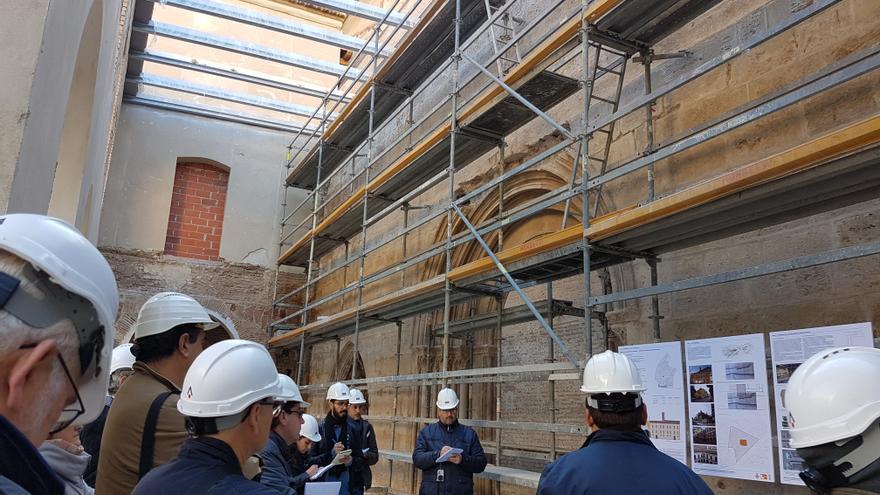 Obras de rehabilitación del monasterio de Sant Vicent de la Roqueta