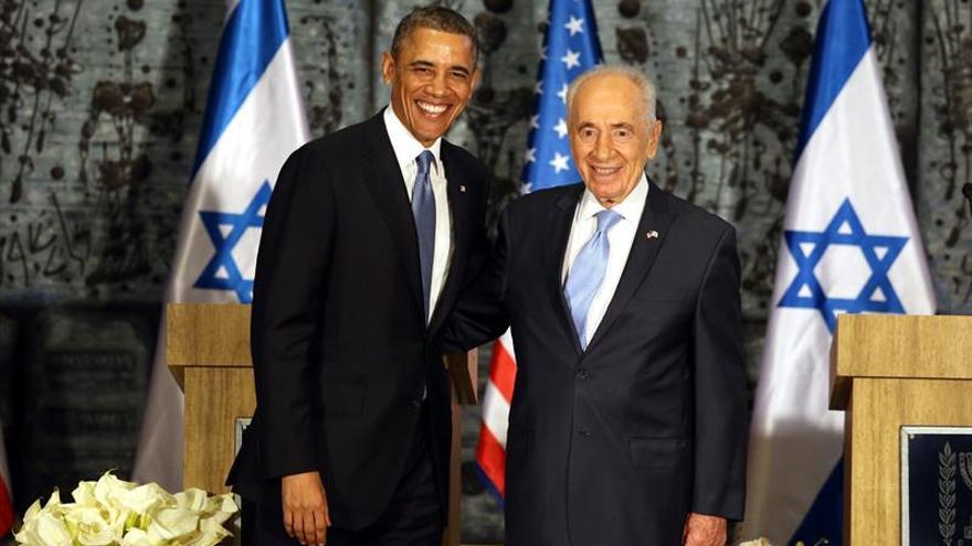 """Obama reitera su compromiso con la paz en Oriente Medio como """"tributo"""" a Peres"""