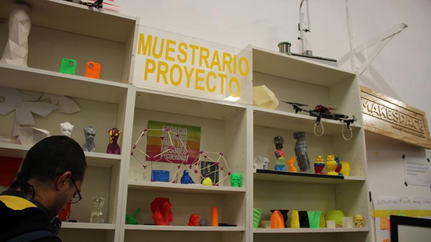 Algunas de las impresiones 3D con las que han experimentado los miembros del Makespace