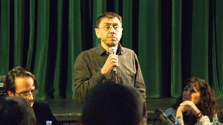 Juan Carlos Monedero, durante su intervención en Tenerife
