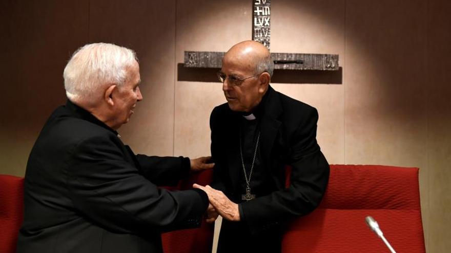 Blázquez y Cañizares, en la sede de la Conferencia Episcopal