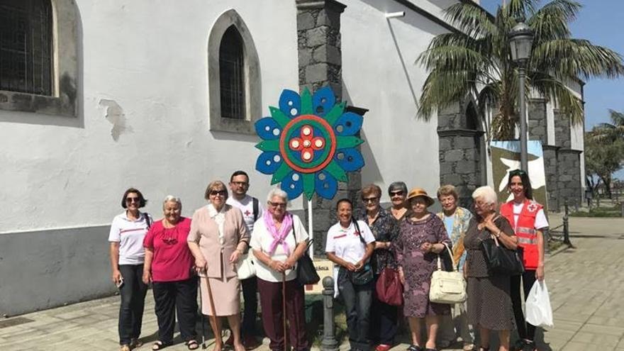 El grupo de beneficiarias de la teleasistencia de Cruz Roja.