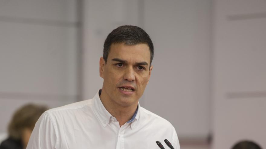Pedro Sánchez durante su intervención ante el Comité Federal del PSOE