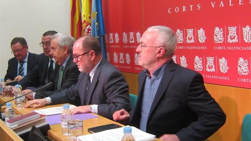 Antonio Montiel, en la presentación de la ILP de RTVV en las Corts Valencianes.