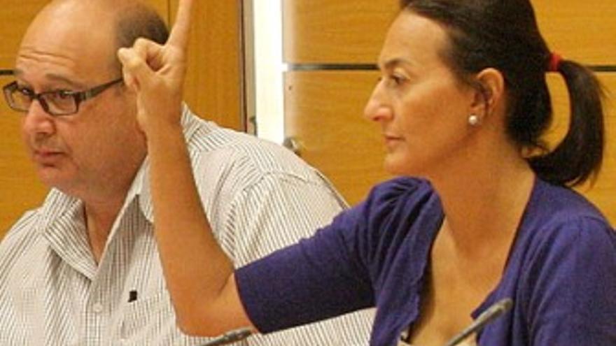 Águeda Montelongo, durante una sesión del Cabildo. (ACFI PRESS)