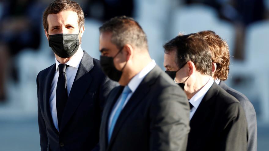 Pablo Casado en el funeral de Estado por las víctimas de la COVID-19