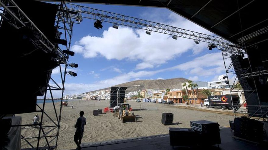 Escenario principal del Womad Fuerteventura. EFE/CARLOS DE SAÁ