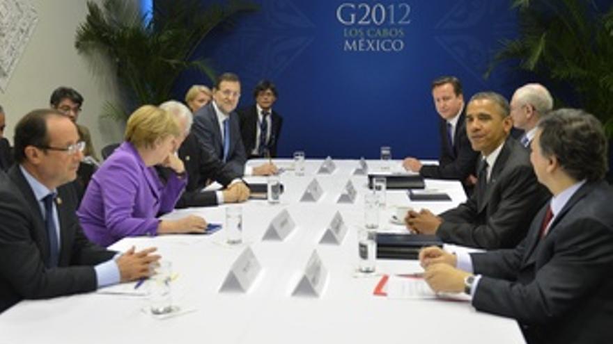 Rajoy Con Hollande, Merkel, Obama Y Otros En La Cumbre Del G-20