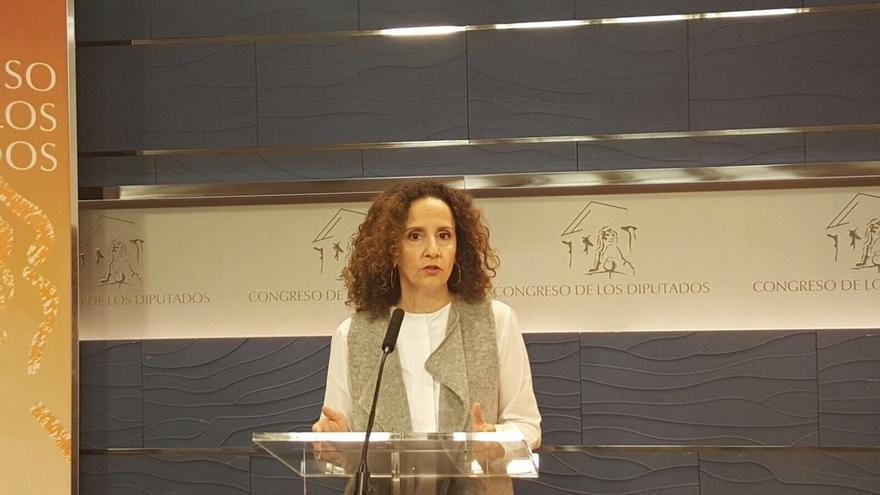 La portavoz de Energía del PSOE en el Congreso, Pilar Lucio.