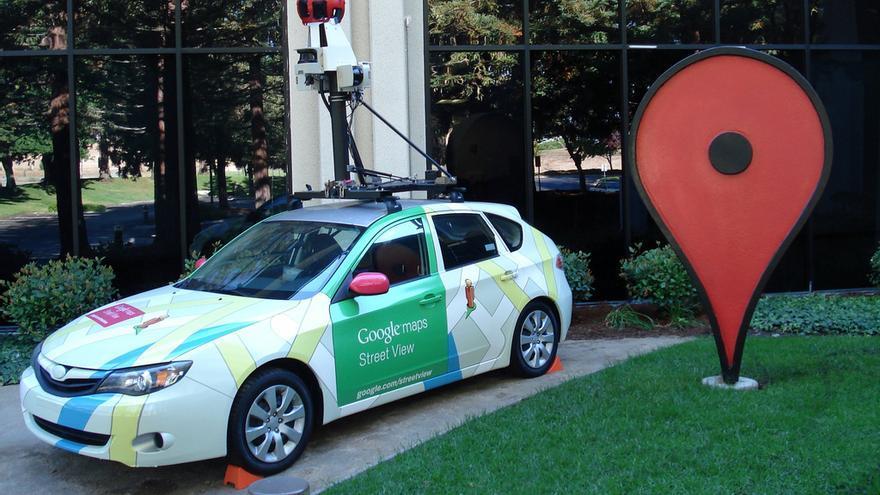 Uno de los coches de Google con el que se graban las imágenes de Street View