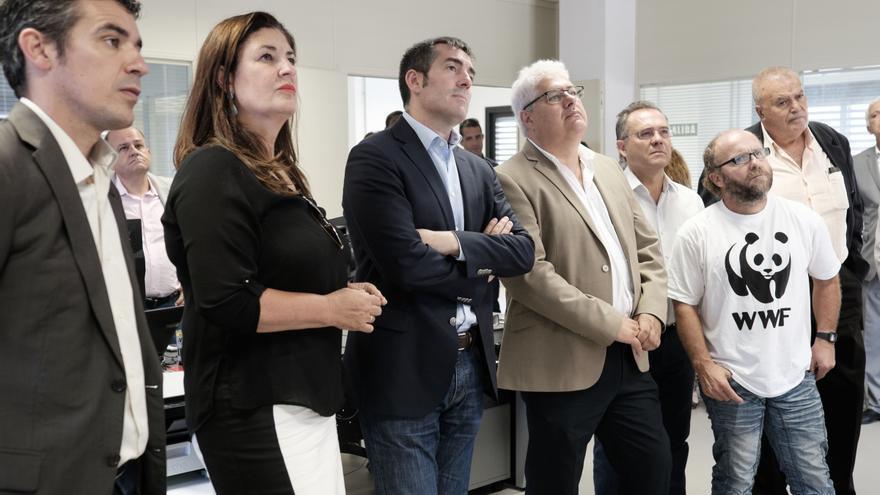 Narvay Quintero, Belén Allende y Fernando Clavijo, entre otros, en una visita a Gorona del Viento (GOBIERNO DE CANARIAS)