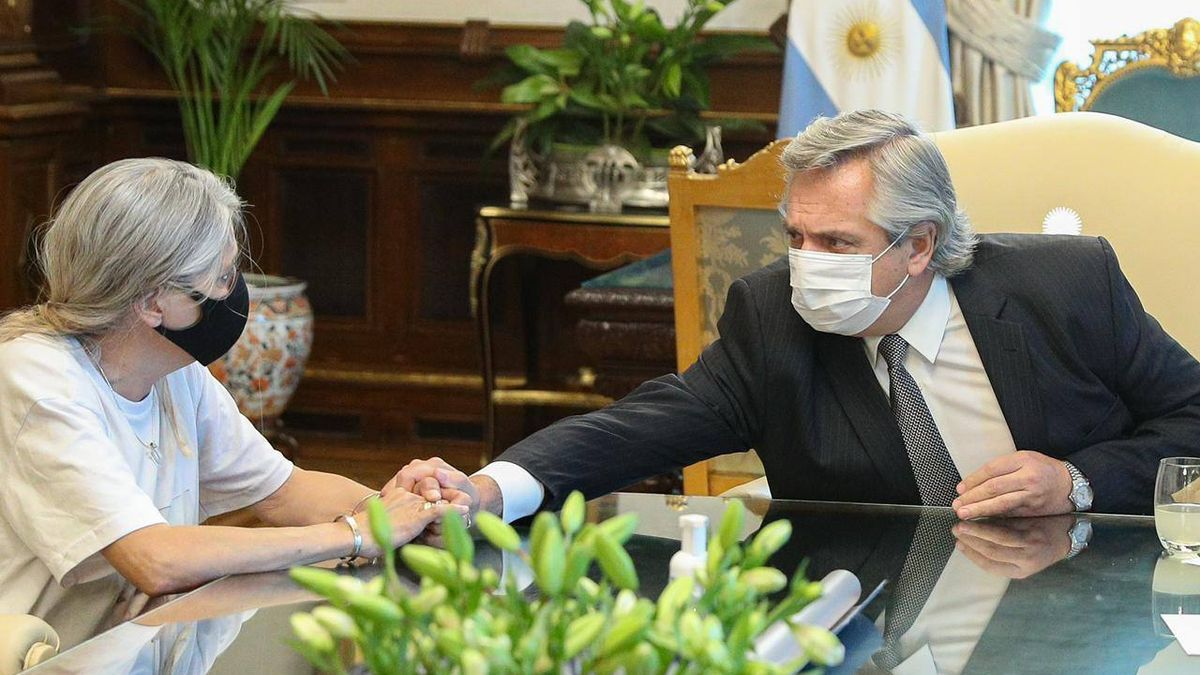 Alberto Fernández recibió a los padres de Úrsula en Casa de Gobierno