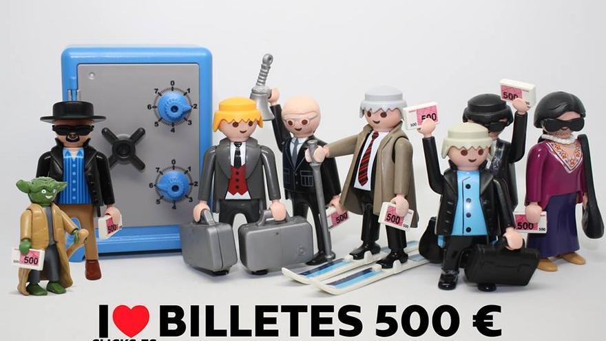 I love billetes 500 €