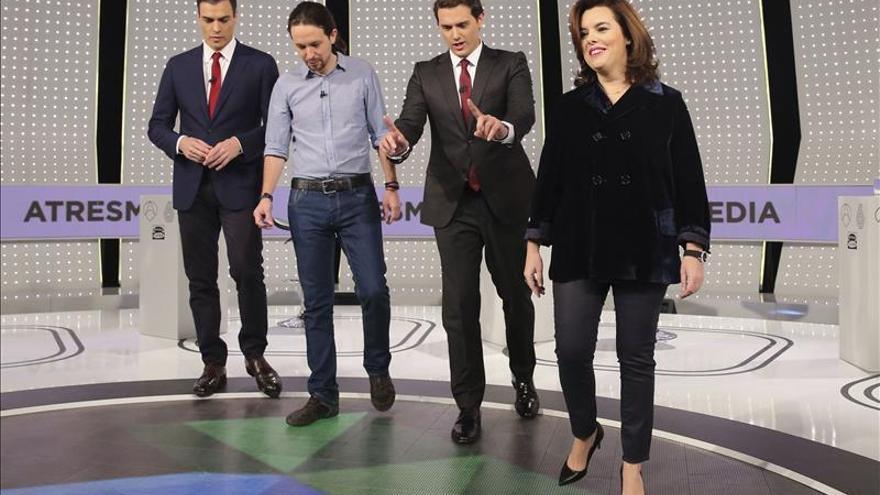 Pablo Iglesias, el único que empieza el debate citando a Rajoy